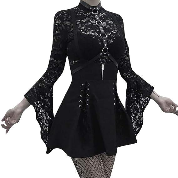 Amyline Vestidos De Fiesta, Mujer Gótica Punk Perspectiva Falda ...