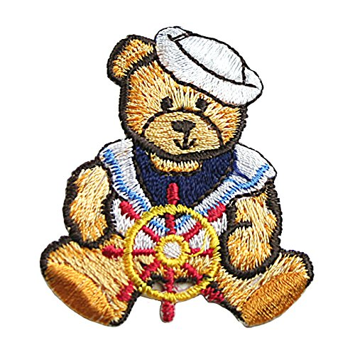 Altotux Nautical Sailor Pirate Cute Teddy Bear Embroidery Iron On Patch Applique (Sailor Bear)