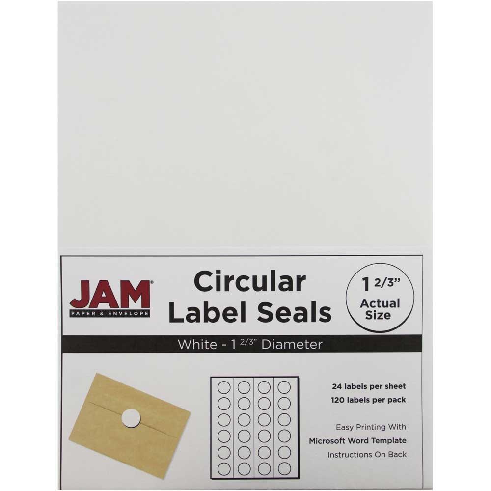 Amazon.com : JAM Paper Round Circle Label Sticker Seals - 1 2/3 ...