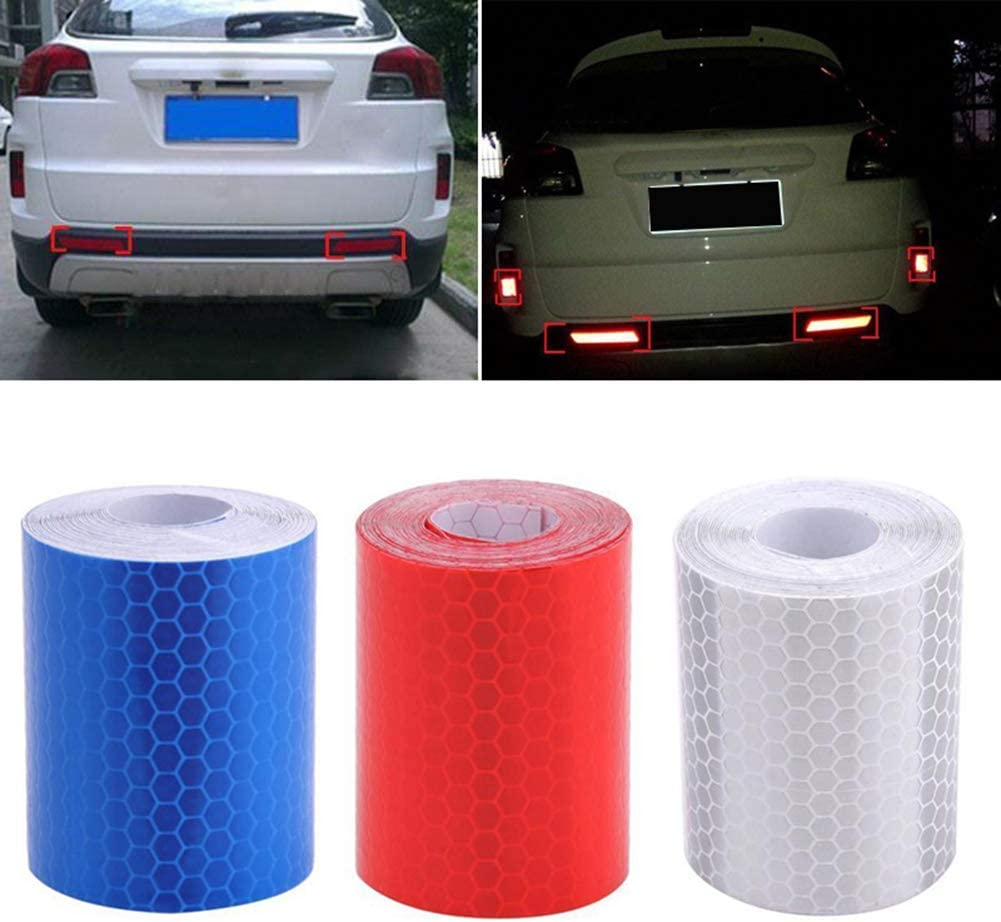 1m x 5cm Reflective Safety Warning Conspicuity Tape Film Car Body Sticker Porfeet Car Warning Tape