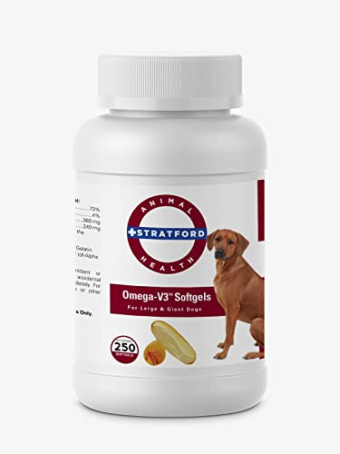Omega-V3 Softgels Large and Giant Dogs 250ct by Stratford