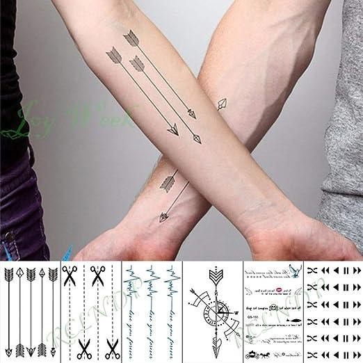ljmljm 5 PC Impermeable Etiqueta engomada del Tatuaje Cruz del ...