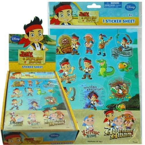 UPD Jake And The Neverland Pirates Raised Stickers -