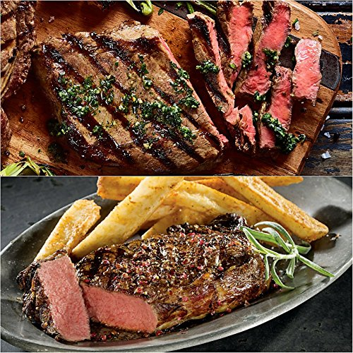 The Fab Four Steak Set from Kansas City Steaks - 2 (10 oz) Boneless Ribeyes and 2 (10 oz) Kansas City ()