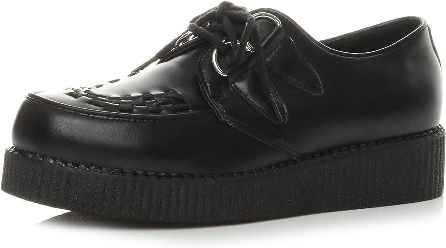 Platform Shoes Teddy boy lace up