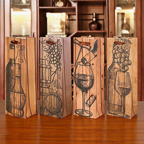 Tellpet Wine Gift Bags, Exclusive Design Single Bottle Wine Tote, 12pcs by tellpet (Image #6)