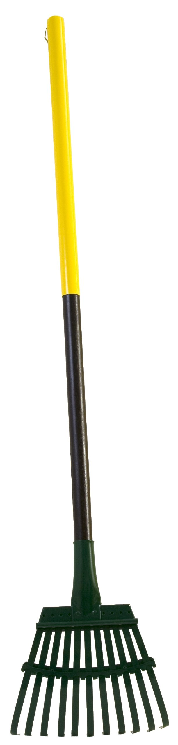 Flexrake 8W Steel Rake with 36-Inch Cherry Stained Wood Handle