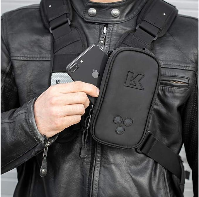 KKHPXL-R Kriega Harness Pocket XL Tasche Motorrad Rechts Rei/ßverschluss 600 ml Wasserabweisend Handytasche