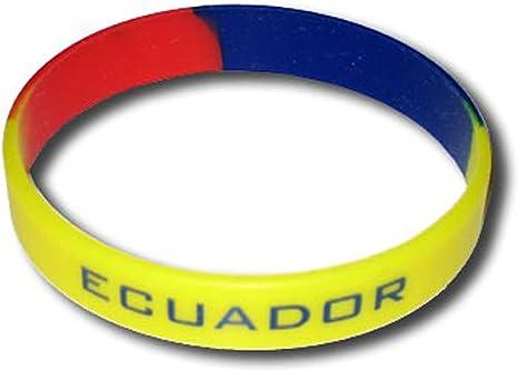 Supportershop – Equateur Pulsera Silicona Fútbol, Amarillo, FR: Talla Unique (Talla Fabricante: Talla One sizeque): Amazon.es: Deportes y aire libre