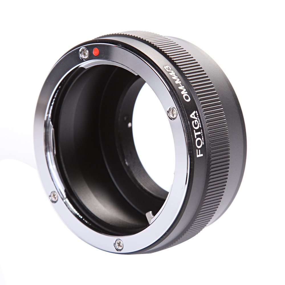 FOTGA Lens Mount Adapter for Olympus OM Mount Lens to Micro Four Thirds(M4/3/MFT) Mount Camera Olympus PEN E-PL1,E-PL2,E-M,OM-D,E-M5,E-M10 Mark II/III Panasonic Lumix GH1,GH2,GH3,GH4,GH5,GH5s