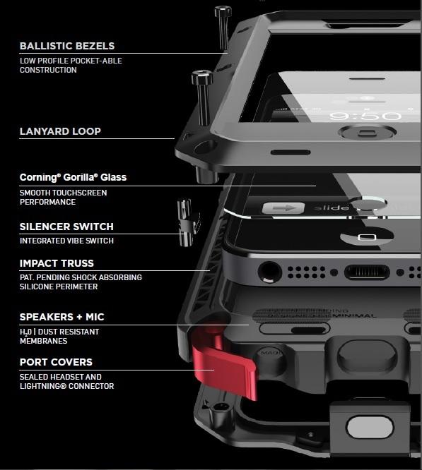 buy online 78f72 d97b4 Amazon.com: Lunatik TT5H-001 Taktik Extreme Premium Protection ...