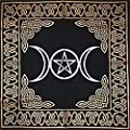 Triple Goddess Altar Tarot Cloth With Pentagram