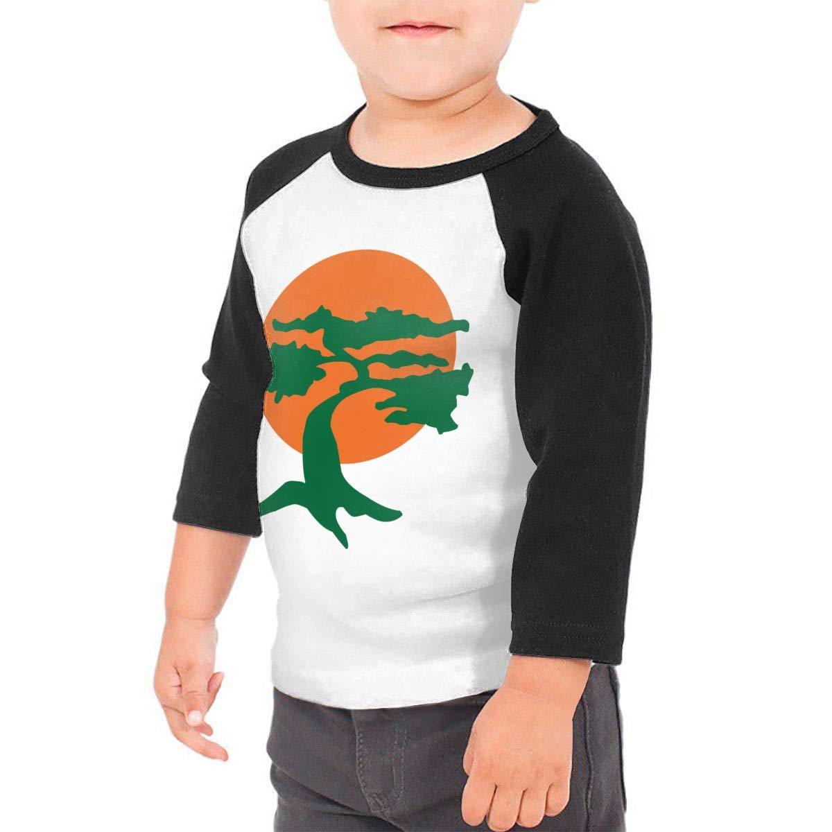 Yimo Japanese Bonsai Tree Unisex Toddler Baseball Jersey Contrast 3//4 Sleeves Tee