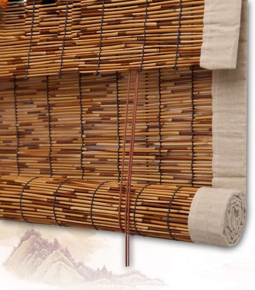 Amazon Com Bamboo Roller Blind Roller Blind Bamboo Roman Shade Blinds Roller Blinds Wooden Roller Blind Reed Curtain Window Blinds Shade Balcony Veranda Garden Sun Filtering Color A Size 130x160cm Home