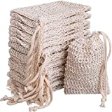 BBTO 15 Pack Soap Saver Exfoliating Natural Sisal Soap Bag Pouch
