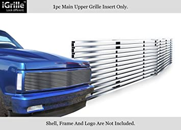 APS Fits 82-90 Chevy S-10 Pickup//Blazer//S-15//Jimmy Stainless T304 Billet Grille Grill Chrome Polished #N19-S40058C