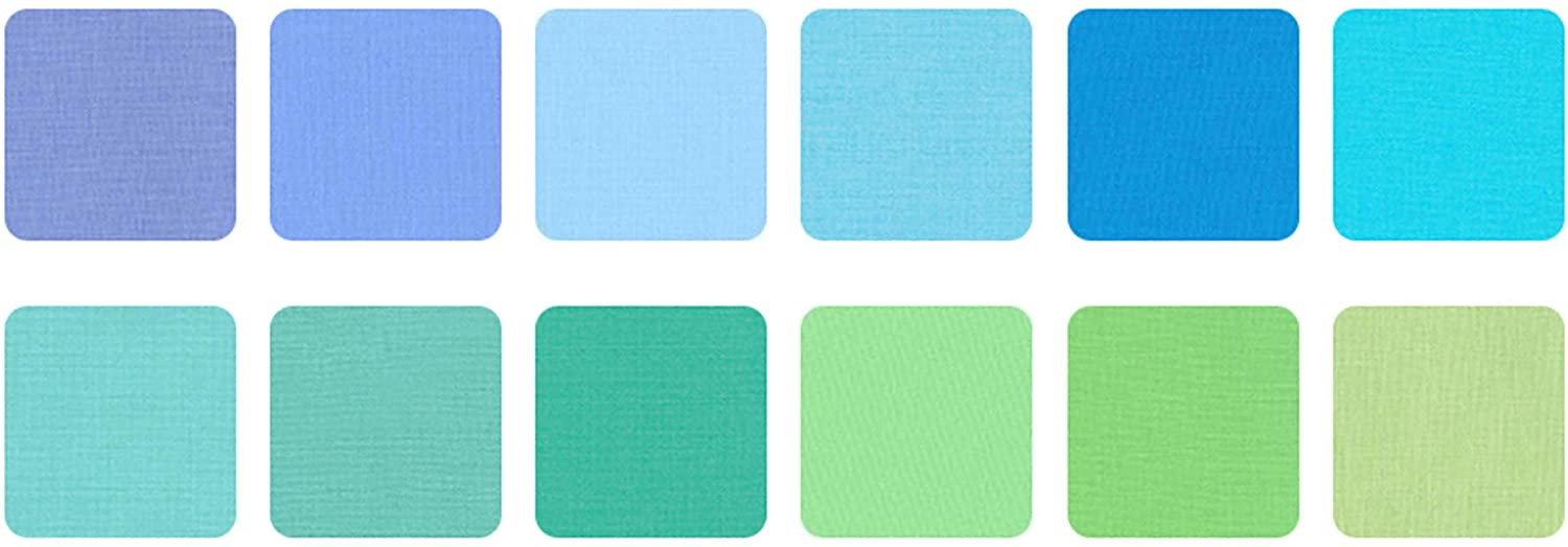 Kona Cotton Mermaid Shores Palette 42 5-inch Squares Charm Pack Robert Kaufman CHS-726-42