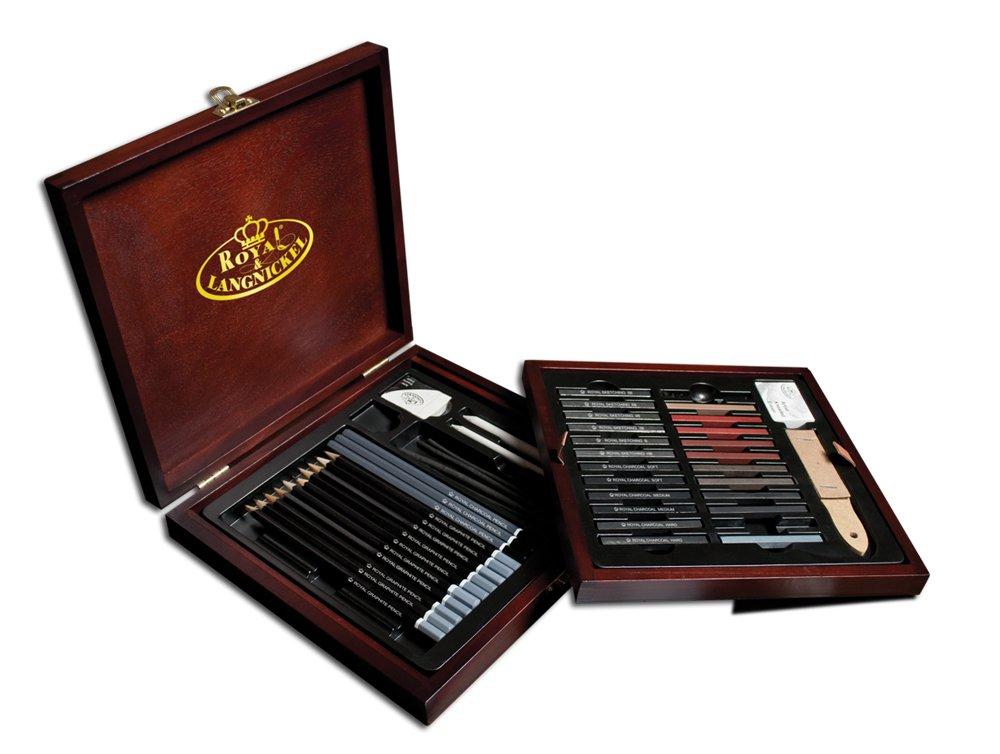 Royal & Langnickel RSET-SKET1600 Premier Sketch Pencil Art Set, 51-Piece