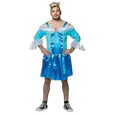 Rasta Imposta Cinderfella Adult Costume Blue Men Plus (50-52)  sc 1 st  Amazon.com & Amazon.com: Rasta Imposta - Menu0027s Cinderfella Costume: Clothing