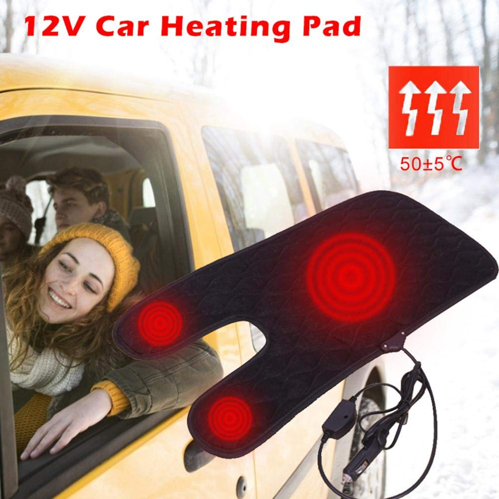 tappetino riscaldante elettrico 12V Cuscino riscaldato per seggiolino auto coprisedili sedia da ufficio portatile accessori per auto scaldapiedi per auto