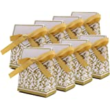 50pcs Wedding candy gift box Golden Year candy box silver dream box Wedding Favour Candy Gift Boxes