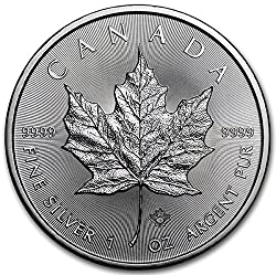 The Silver Canadian Maple Leaf bullion coin. First minted in 1988, the silver Maple Leaf is now one of the more popular members of the Canadian Maple Leaf family of bullion coins...besides silver, one-ounce Maple Leaf coins are also produced by the R...