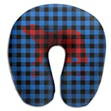 Scorpio Plaid Bear Buffalo Super Soft Travel Pillow Spa U SHAPE For Toddler Car Seat Person