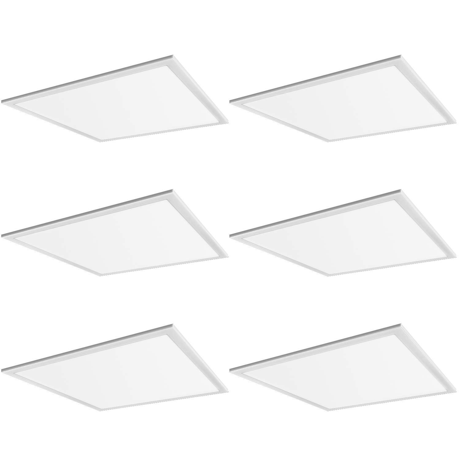 Hykolity 6 Pack 2x2 FT 40W 5000lm Lay-in LED Troffer Panel Light, 1-10V Dimmable Recessed Edge-Lit Troffer Fixture, Drop Ceiling Flat Panel Light, Repalce 2-Lamp T8 Fluorescent Troffer by hykolity (Image #1)