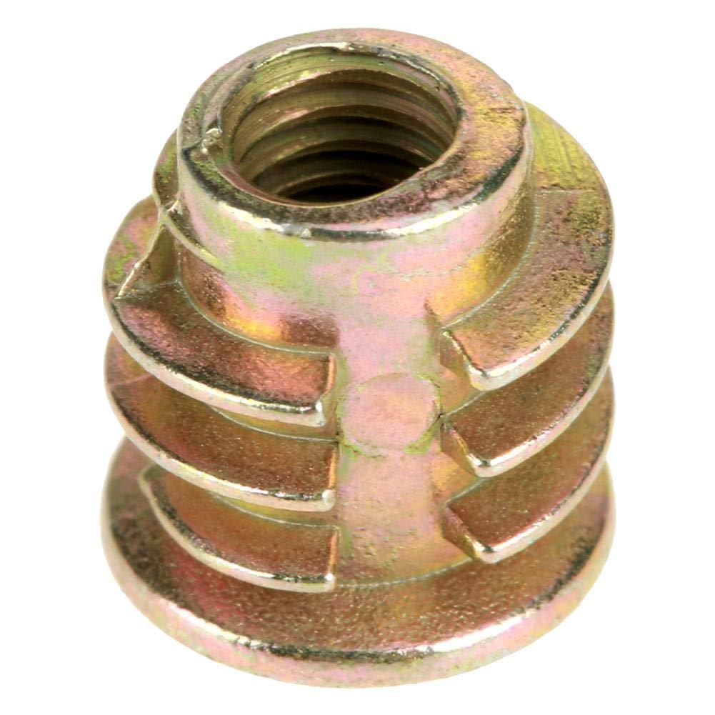 Filetage D/écrou Hexagonale,50Pcs M4*8mm en Alliage de Zinc pour les Inserts en Bois pour Meubles en Bois avec Bo/îte en Plastique Inserts Filet/é Insert /Écrous Assortiment Kit