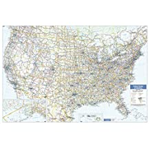 USA Wall Map - 40.25 x 28 inches - Paper - Flat Tubed