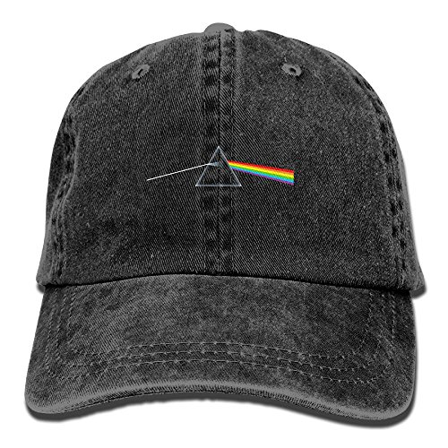 Pink Floyd Hats - XianNonG Pink Floyd The Dark Side of The Moon Men's Black Adjustable Vintage Washed Denim Baseball Cap Dad Hat Trucker Cap