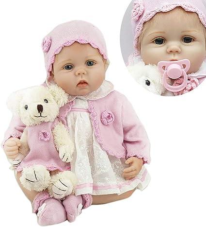 "Newborn 22/"" Handmade Lifelike Baby Girl Doll Reborn Soft Silicone Vinyl Gift Hot"
