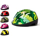3Style Scooters® - Kids Cycle Helmet 6 Awesome Designs Pink Camo, Green Camo, Butterfly, Jungle, Ladybird, Bumblebee, - For Cycling, Skating, Scooting - Adjustable Headband Vented Design - Suitable For Kids Aged 4,5, 6, 7, 8, 9, 10 & 11 Years Old