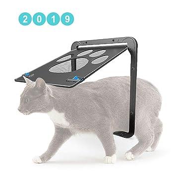 CX TECH Puerta de la Pantalla del Gato para Mascotas Puerta ...