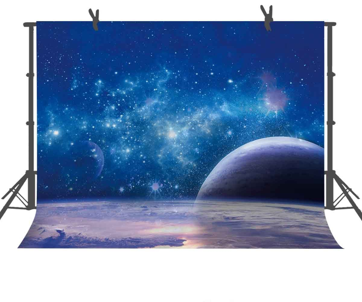 FUERMOR 7x5ft Galaxy Stars Planet Photography Backdrop For Children Photo Shooting Props Wall Mural RQ008