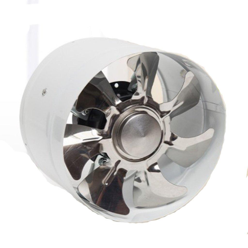 6 Zoll 40W Inline Kanal Booster Lüfter Belüftung Abluft Gebläse schwarz