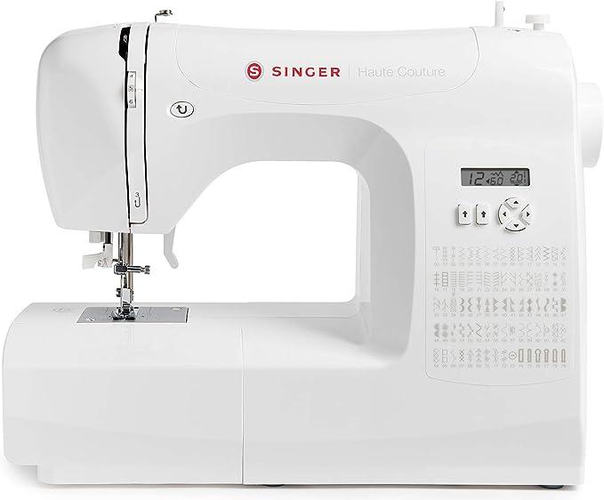 Singer Haute Couture - Máquina de coser electrónica - Edición Limitada - 80 puntadas - Máquina de coser portátil - Profesional - Automática - Para una costura creativa - Fácil para principiantes