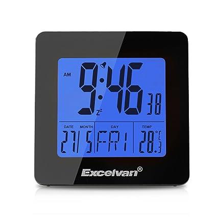 """Excelvan Reloj Digital LCD 4.3"""" Despertador del Escritorio (Estación Meteorológica, Termometro, Higrometro"""