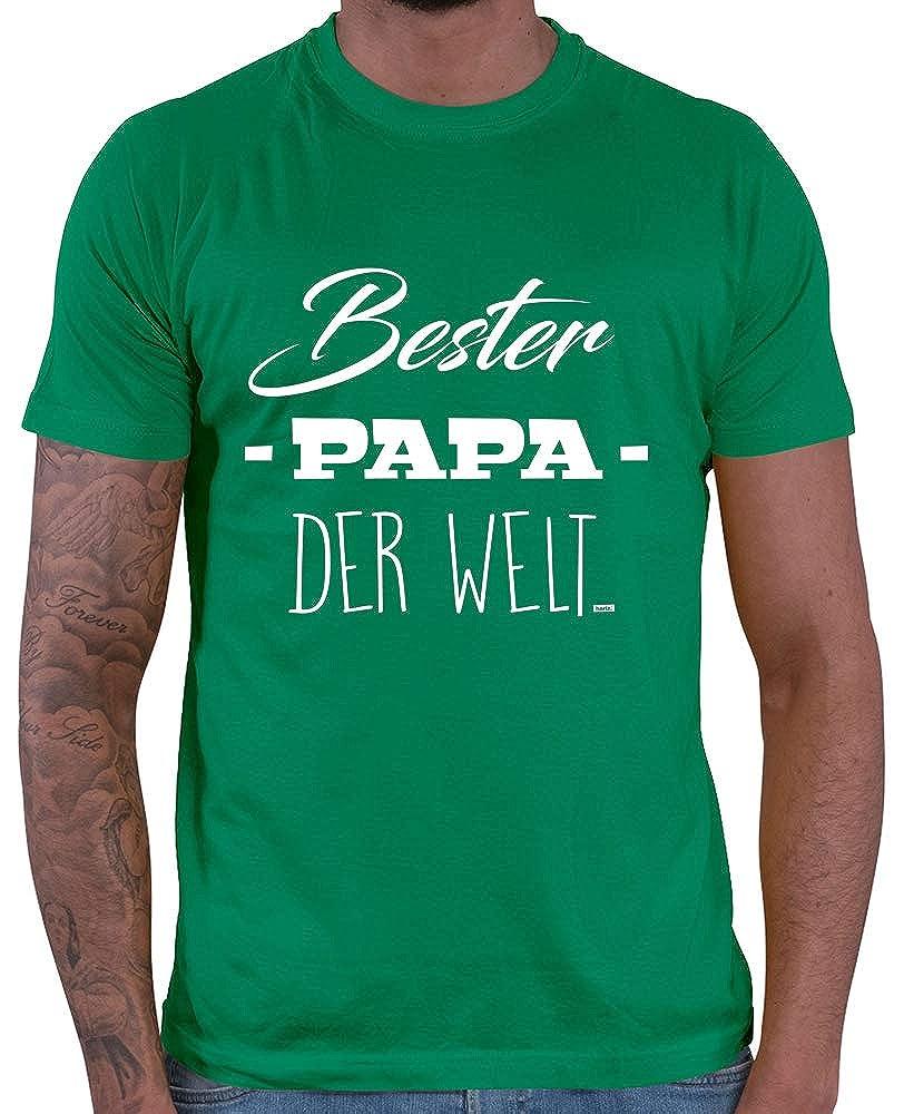 Geschenk Karte HARIZ  Herren T-Shirt Papa Der Welt M/änner Geschenk Geburtstag zur Geburt Inkl