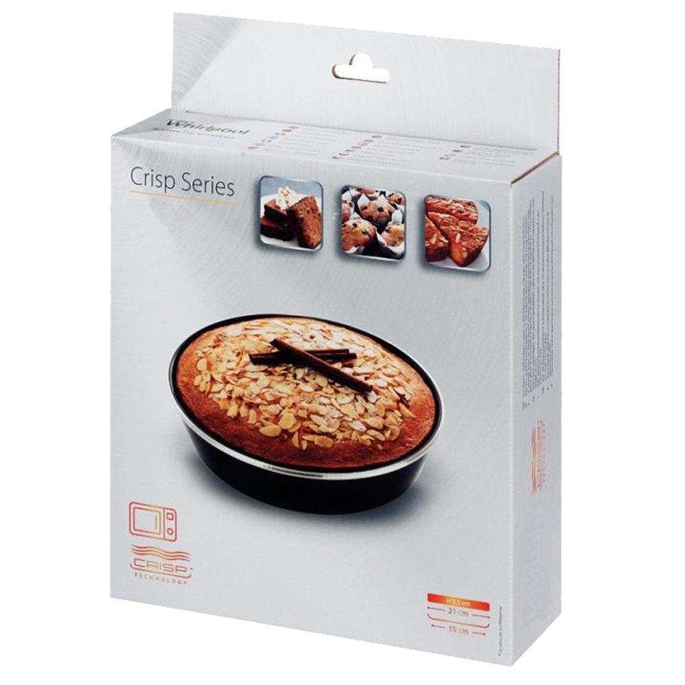 Spares2go ferrita Cake Crisper plato y asa para Whirlpool Hornos microondas función Crisp (190 mm)