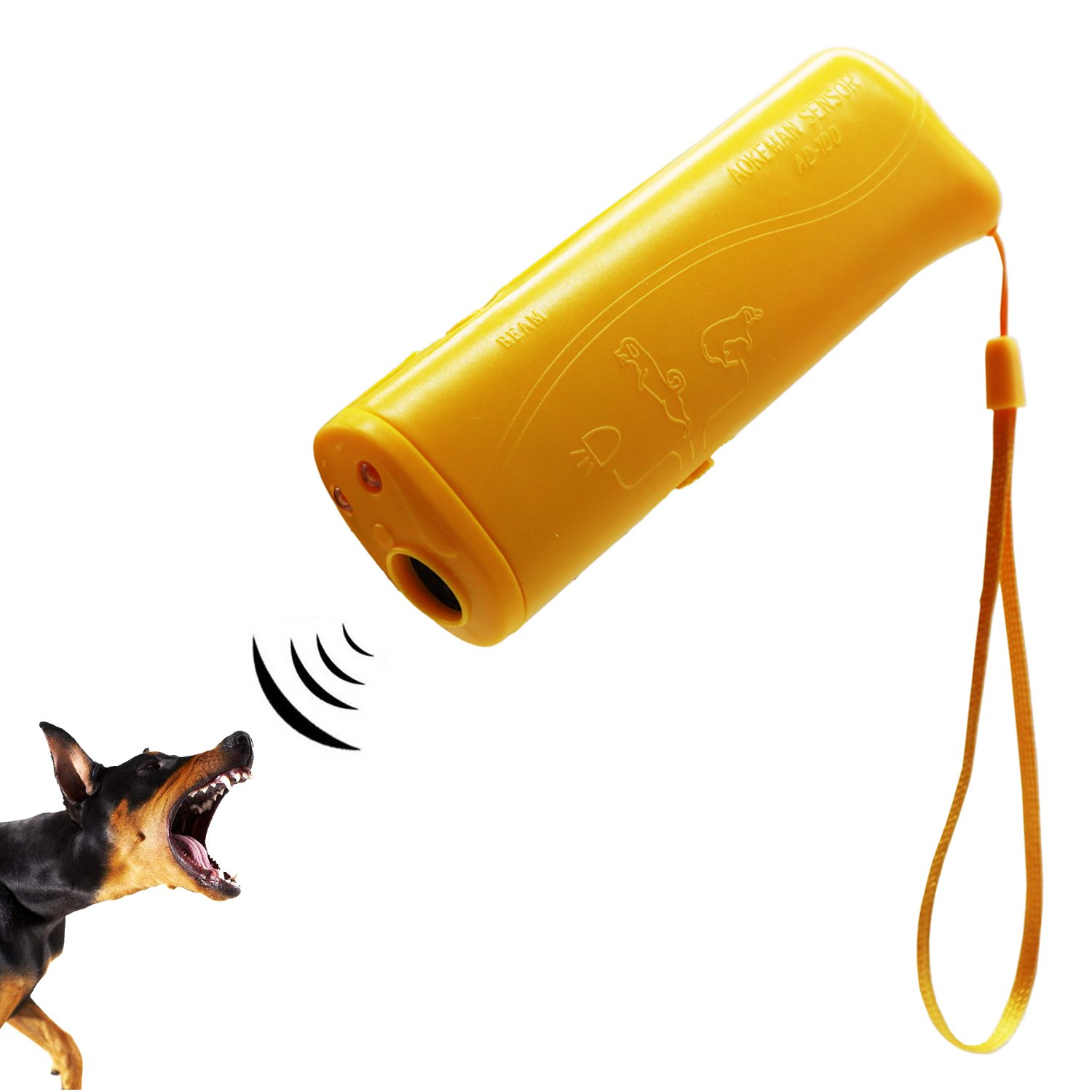 Ruri's Ultrasonic Dog Repeller and Trainer Device 3 in 1 Anti Barking Stop Bark Control and Trainer with LED Flashlight by Ruri's
