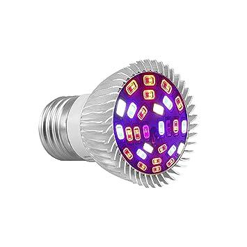EEEKit 28W Full Spectrum E27 28 LED Crecen Bombillas para Plantas de Interior orgánicas hidropónicas