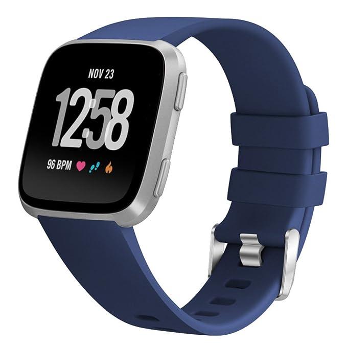 Fitbit Versa - Correa de silicona de repuesto para reloj ...