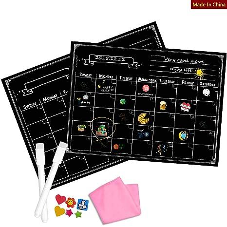 Smart Planner - Calendario magnético para frigorífico o pizarra de borrado en seco con marcador magnético de borrado en seco incluido (420 x 300 ...