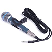 KARTsHITech Beta 58SL Singing Mic Studio Voice Recording Karaoke Dynamic Vocal Microphone (Grey)