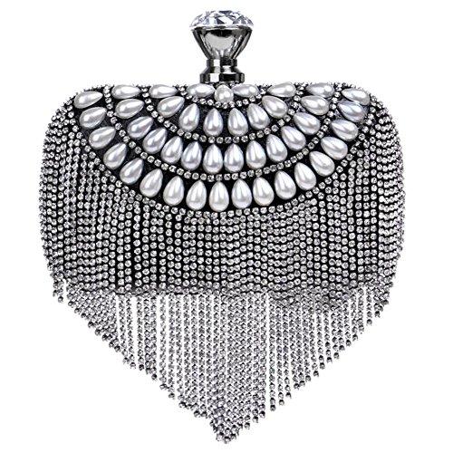 perle 16 de sac dîner sac cm main cristal femmes aux gland soirée x black 20 à diamant mariage cRtYOpqw