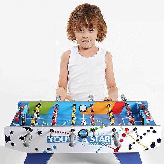 Los mangos ergonómicos billar de juguete for niños y adultos de la mesa de juegos de fútbol son mejores for los niños portátil y juguetes interactivos de bolas (Color: azul, tamaño: 69.5x36.5x24cm)