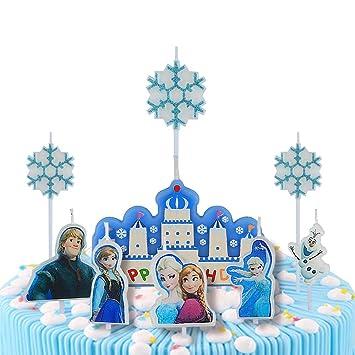 Amazon Com Pinkblume Frozen Happy Birthday Cake Candles Birthday