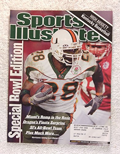 Clinton Portis - Miami Hurricanes - 2001 National Champions - Rose Bowl - Sports Illustrated - January 7, 2002 - Nebraska Cornhuskers - College Football - SI - 2001 Miami Hurricanes Football