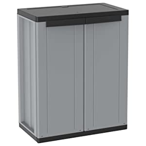 Terry 1002821 jline68 Cabinet 2 Doors with 1 Adjustable Shelf, Grey